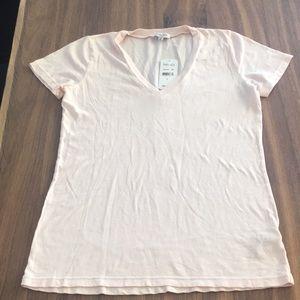 🆕 Splendid V-Neck Pale Pink T-Shirt Size Small